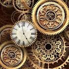FREE Gold Clock Live Wallpaper icon