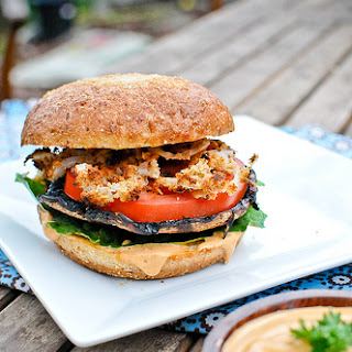 Grilled Portobello Burgers with Chipotle Mayo