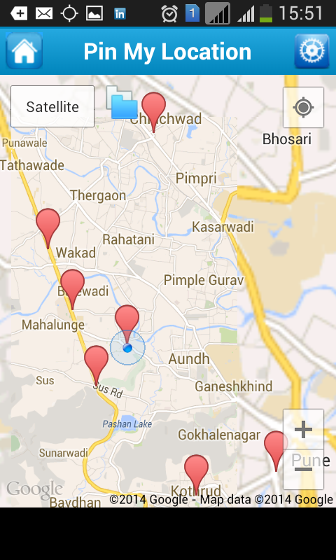how to find my current location in google map