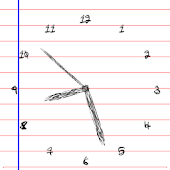 Note Scribble Clock Free