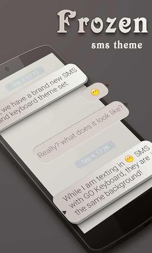 FREE GO SMS FROZEN THEME
