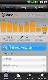 Shapelink Fitness Journal Beta - screenshot thumbnail