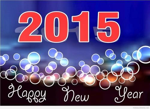 card happy new year 2015