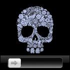 Flower Skull GO Locker icon
