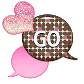 GO SMS - Sparkling Hearts 3