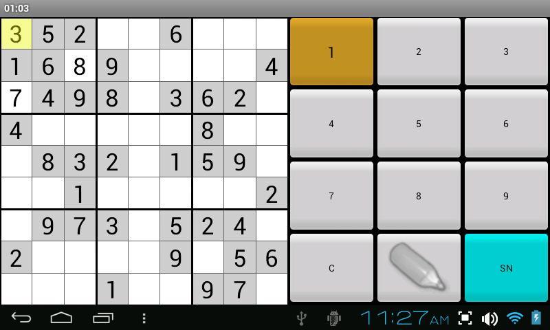 sudoku numbers game