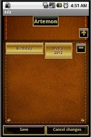 Screenshot of Events Reminder (Leather)