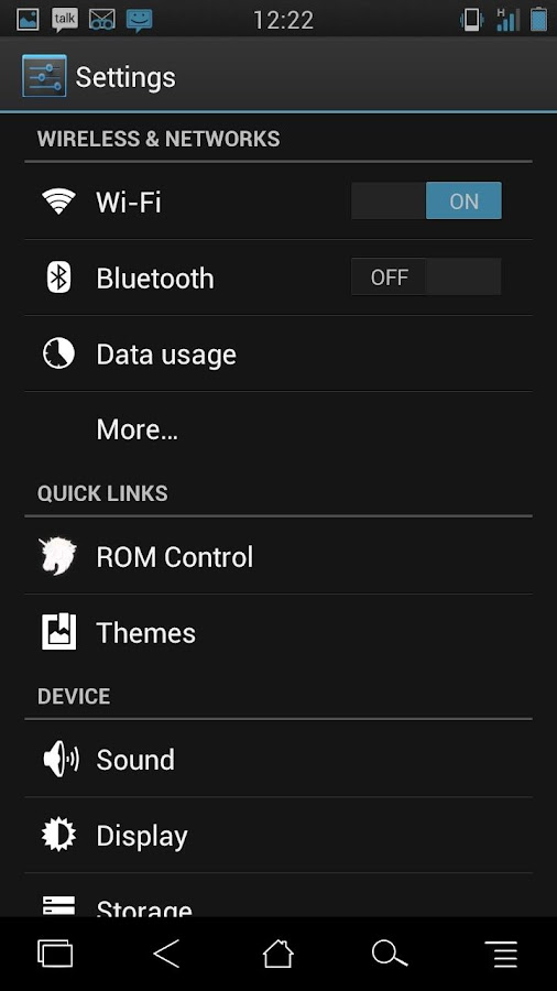 MattedBlues CM10/AOKP Theme - screenshot