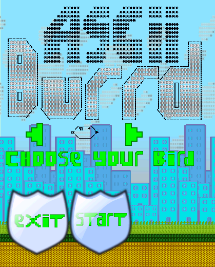 Ascii Birds - screenshot