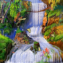 Autumn Waterfalls L Wallpaper logo