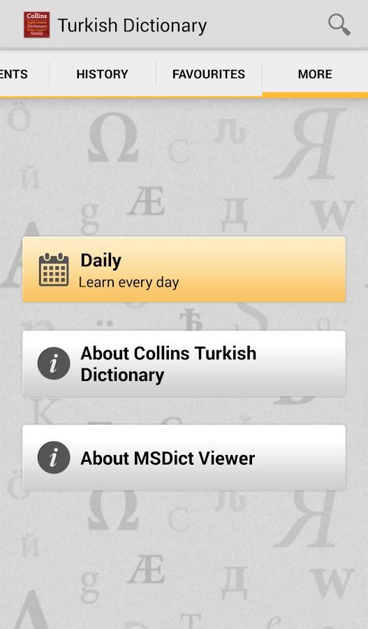 Collins Gem Turkish TR - screenshot