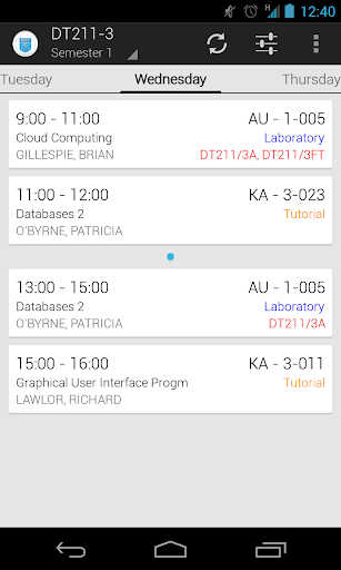 DIT Timetables