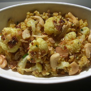 Curried Cauliflower, Red Lentil and Couscous Salad.