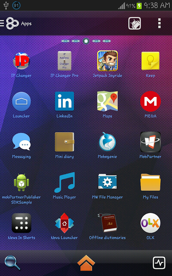 Crystal Blue Super Theme - screenshot