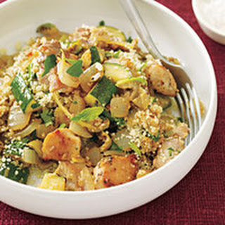 Green-Olive Chicken and Couscous