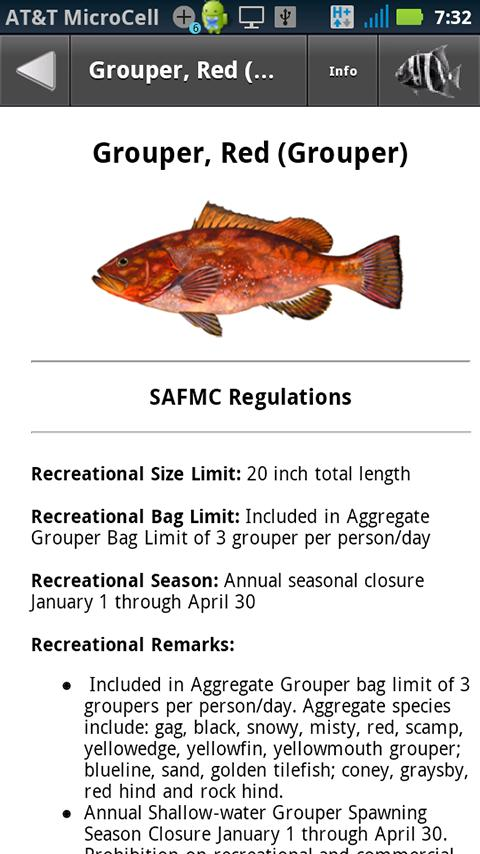 SA Fishing Regulations- screenshot
