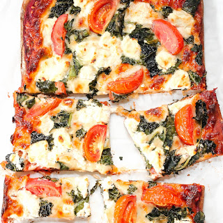 Kale Goat Cheese Pizza.