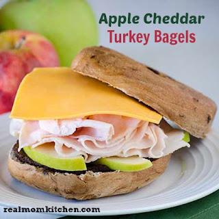 Apple Cheddar Turkey Bagels.