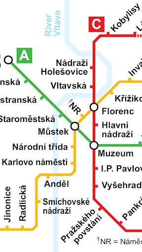 프라하 지하철 노선도