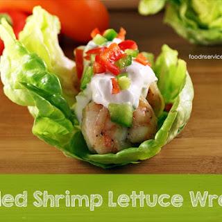 Grilled Shrimp Lettuce Wraps.