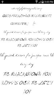 Fonts for FlipFont Script Font 4