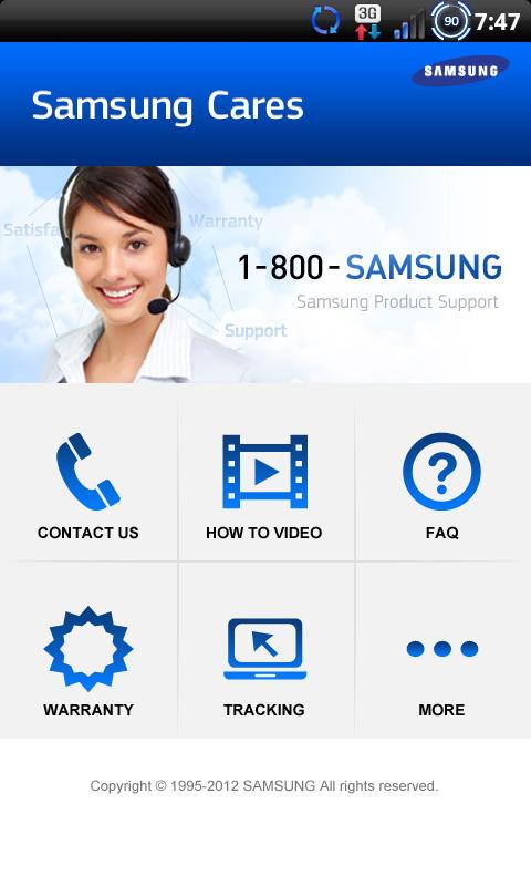 Samsung Cares - screenshot