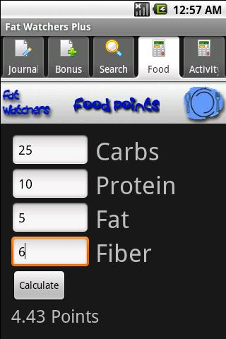 Fat Watchers Plus - screenshot