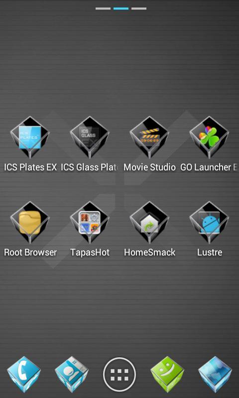 ADW APEX GO - 3D ICS Plates- screenshot