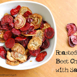 Roasted Beet Chips with Sage.