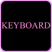 Black & Pink Keyboard Skin