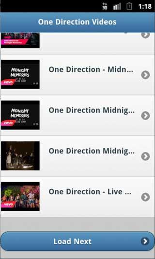 One Direction Lyrics & Videos - screenshot