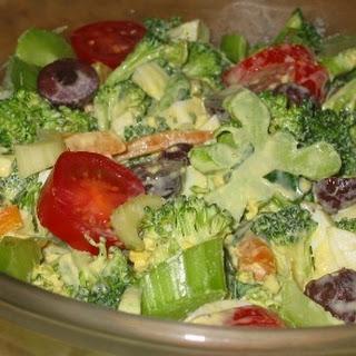 Egg Persillade Dressing and a Broccoli Salad