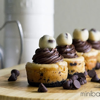 Mini Caramel Cookie Dough Cheesecakes