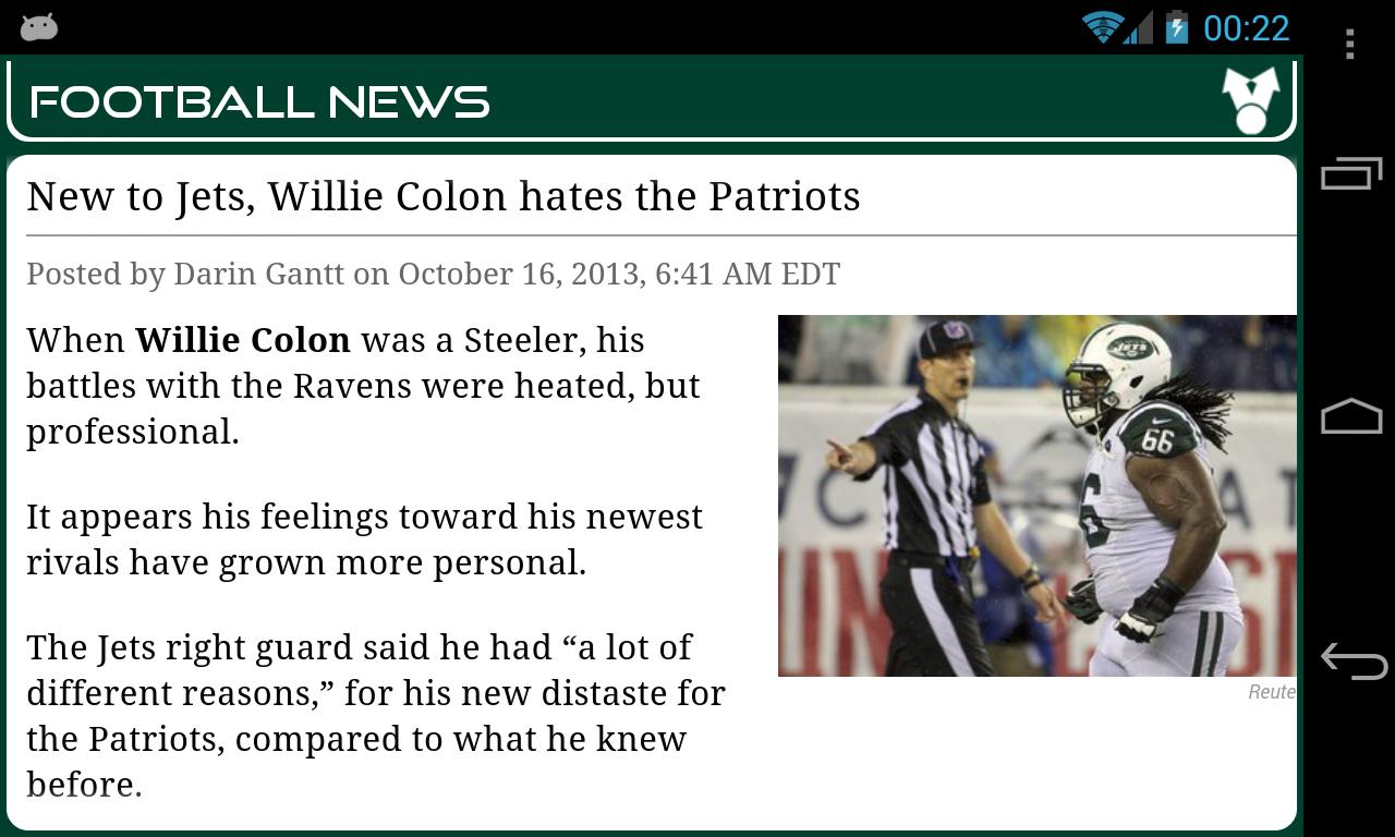 New York J. Football News - screenshot