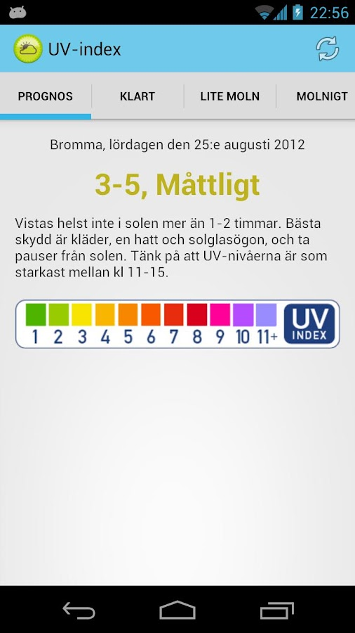 UV Index- screenshot