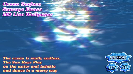 Ocean Surface Sunrays Dance 3D- screenshot thumbnail