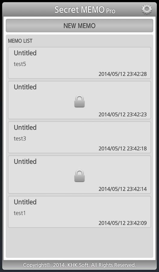 Secret MEMO (Memo Widget) - screenshot