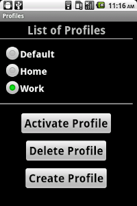 Settings Profiles screenshot 0