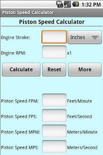 Piston Speed Cal - screenshot thumbnail