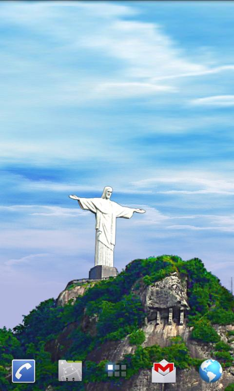 Rio Live Wallpaper - Corcovado- screenshot