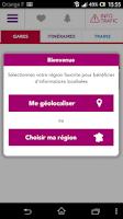 Screenshot of SNCF TER Mobile