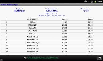Screenshot of Indian Railway