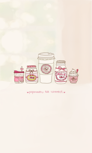 Sweet pink go launcher theme