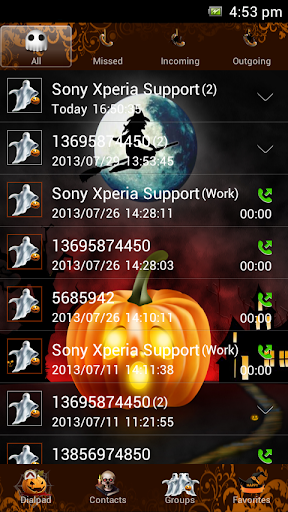 Go Contacts Halloween Theme