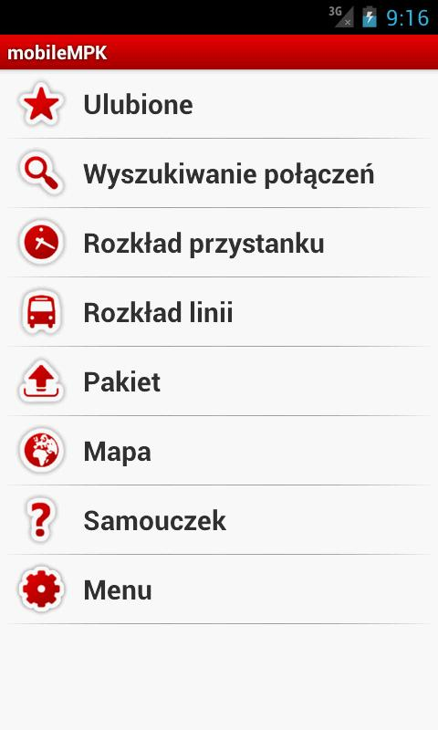 mobileMPK - screenshot