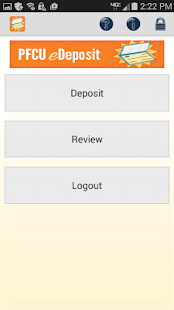 PFCU eDeposit- screenshot thumbnail