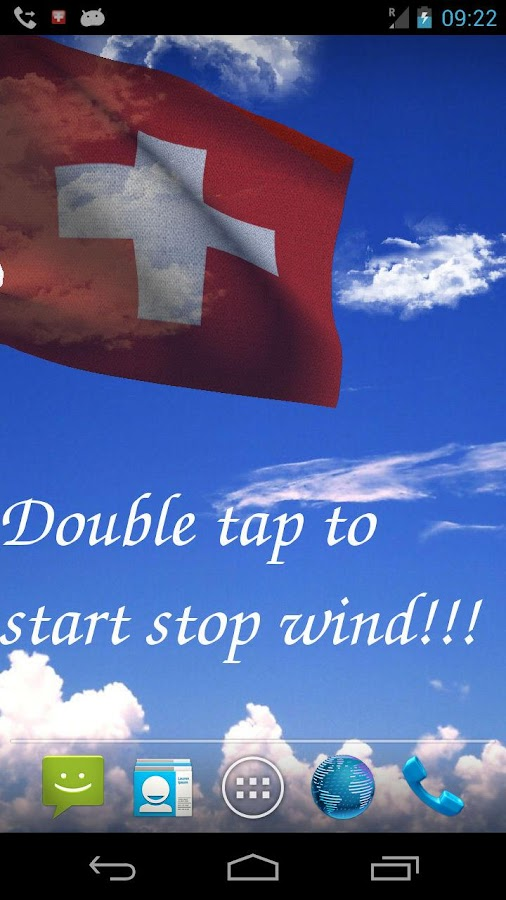 3D Swiss Flag Live Wallpaper- screenshot