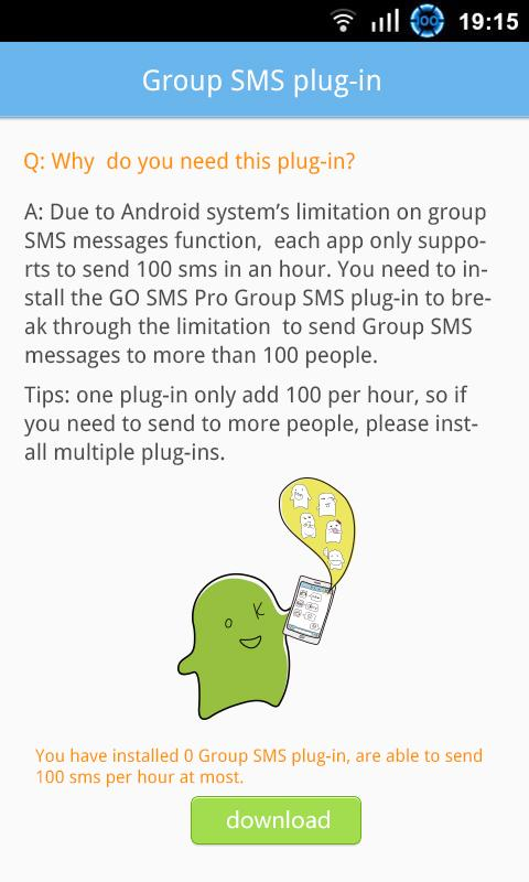 GO SMS Group sms plug-in 10 - screenshot