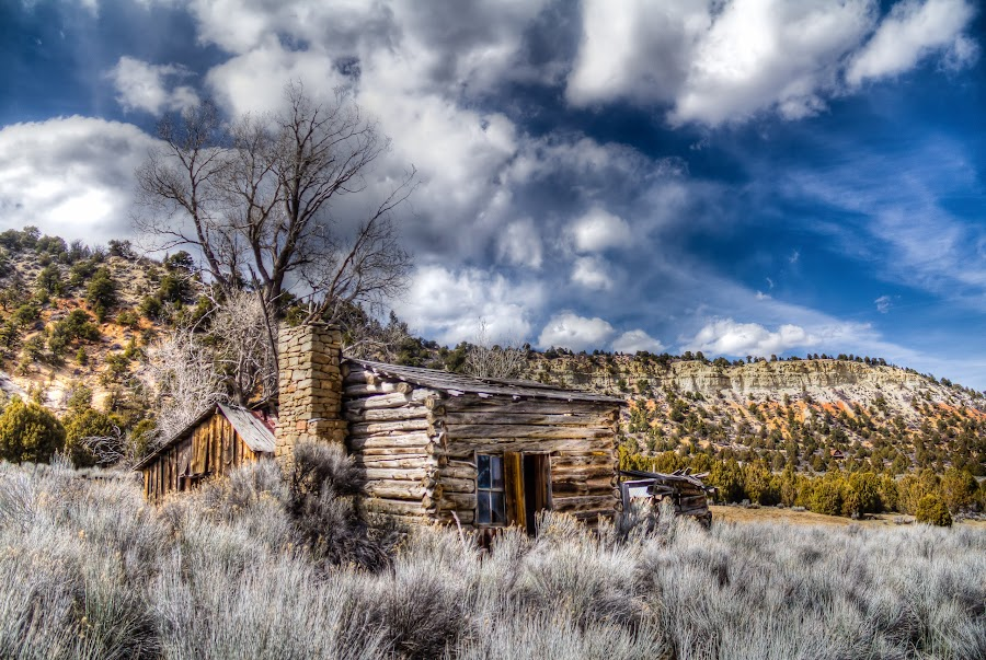 Once Upon A Home by Jim Moon - Buildings & Architecture Decaying & Abandoned ( cabin, abandoned cabin, utah, pioneer, ut, log cabin, southern utah, homested,  )