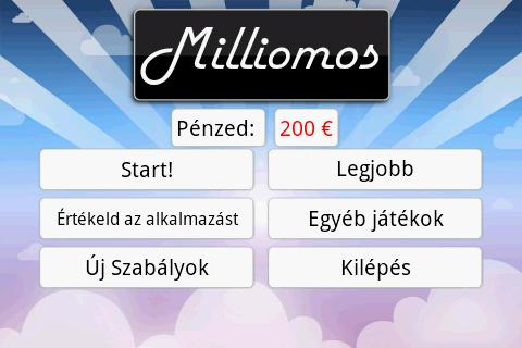 Milliomos- screenshot